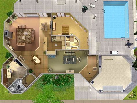 home layouts mod the sims the picklin house 100 redwood pkwy