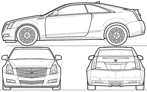 clipart outline  cadillac coupe collection