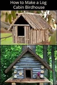 How, To, Make, A, Log, Cabin, Birdhouse, Howtobuildabirdhouse
