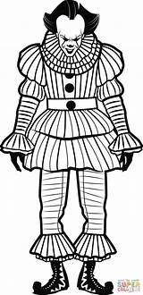 Clown Coloring Colorear Payaso Coloriage Pennywise Colorare Pagliaccio Disegni Dibujos Tegninger Zum Dibujo Ausdrucken Ausmalbilder Imprimer Bambini Immagini Ausmalbild Fortnite sketch template