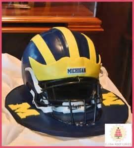 Michigan Football Helmet Cake