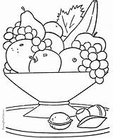 Coloring Printable Fruit Colorbook Pantry Sheets sketch template