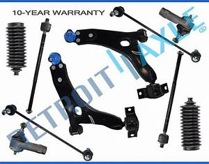 New 10pc Front Lower Control Arm Set  U0026 Suspension Kit For