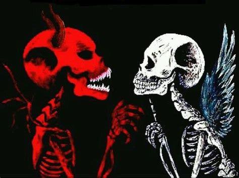 The Gallery For > Good Vs Evil Skull Drawings