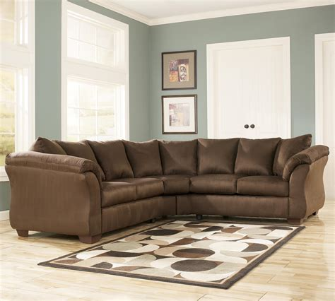 ashley darcy sectional sofa signature design by ashley darcy cafe contemporary