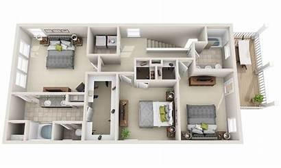 Lofts Plan Townhomes Floor Construction 3dplans Homes