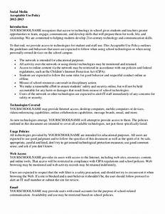 social media policy With social media policy template for schools
