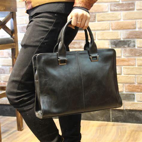 men briefcase  soft leather handbags mens casual bag