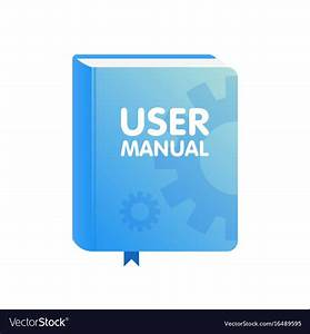 User Manual Book Download Icon Flat Royalty Free Vector
