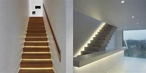 luminaire encastrable eclairage discretion et design With eclairage pour escalier interieur