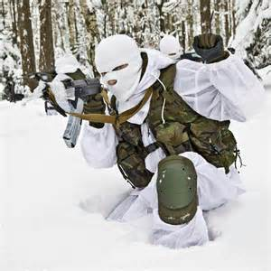 Snow Camo Airsoft Load Out