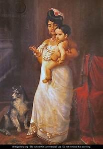 There Comes Papa - Raja Ravi Varma - WikiGallery.org, the ...
