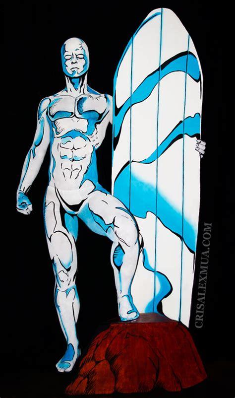 You Sure That's A Person? Trippy Silver Surfer Bodypaint