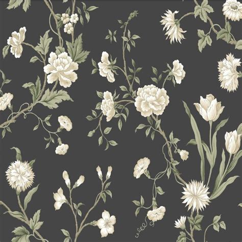 traditional floral wallpaper   black background