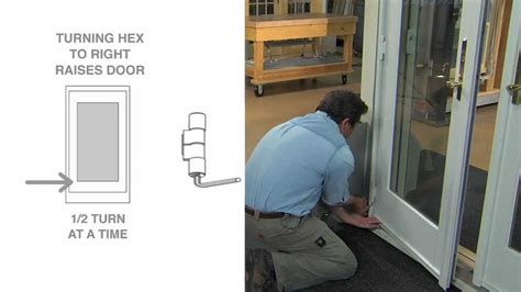 how to adjust a frenchwood outswing patio door