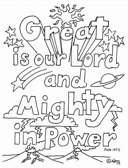 Coloring Pages Psalms Printable Parents