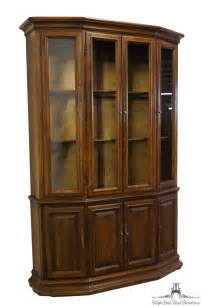 ethan allen classic manor 52 buffet w lighted china cabinet ebay
