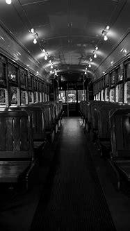 Streetcar Interior BW Photograph by Susie Hoffpauir