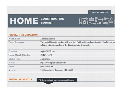 home construction schedule template
