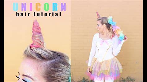 unicorn hair tutorial twist  pretty halloween