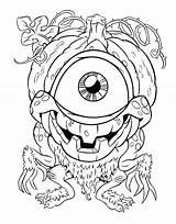 Coloring Eye Pages Printable Eyeball Fireball Getcolorings Print Getdrawings sketch template
