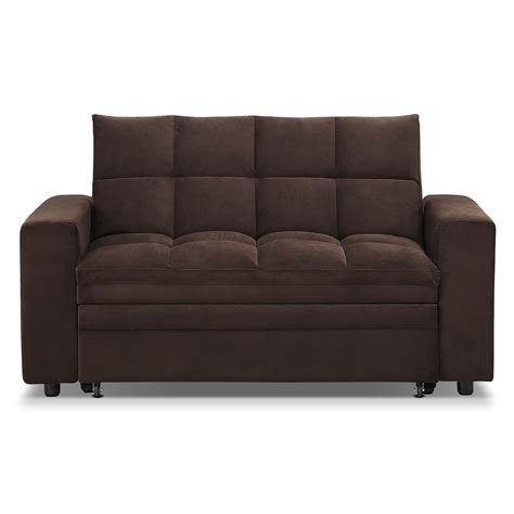 chaise metro metro chaise sofa bed with storage brown
