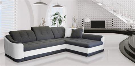 canapé convertibl canapé d 39 angle convertible à droite bray blanc gris