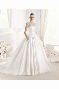 ball gown scoop neck satin tulle beaded crystal wedding With ball gown wedding dress with pockets