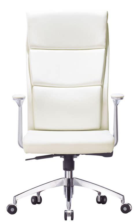 chaise roulante bureau fauteuil de bureau en cuir blanc fira