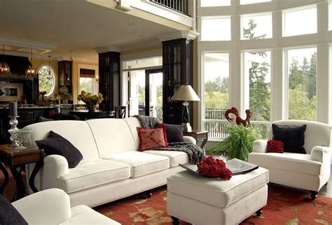 living rooms  huge picture windows