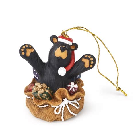 big sky bearfoots celebrate christmas ornaments surprise