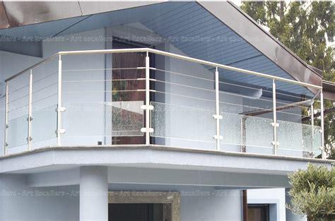 garde corps horizontal exterieur inox rond verre cable artescaliers escaliers