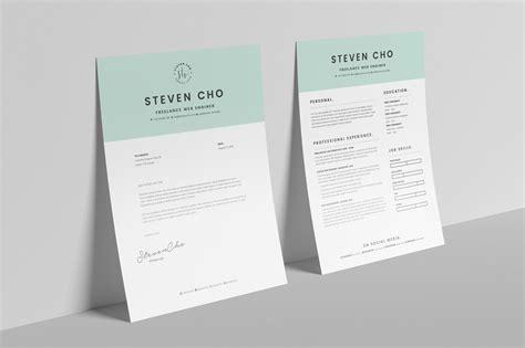 minimalist resume cv design template  cover
