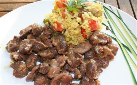 cuisiner les abats recette salade de riz aux gésiers de poulet frais 750g