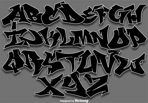 Grafiti Latin Abjad : Vektor Graffiti Alphabet Buchstaben