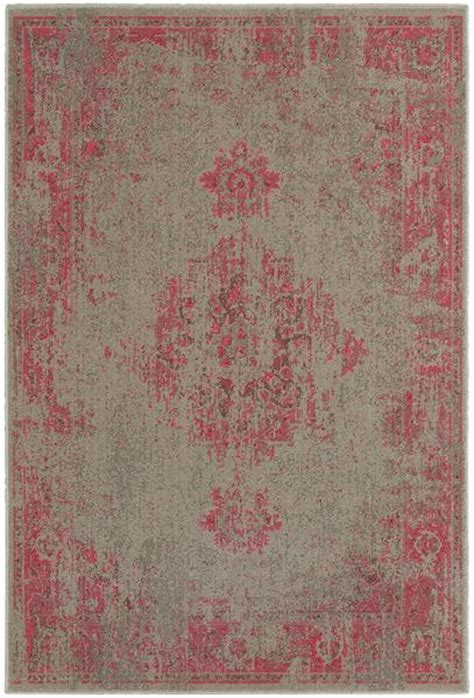 pink  grey persian rug woodwaves