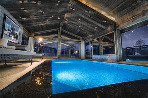 piscine porte de cherret luxurious chalet in the alpine megeve interior designs home