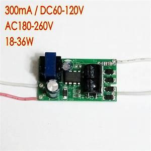 High Efficiency 300ma 18 36 1w Dc 60v