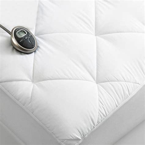 size heated mattress pad sunbeam premium luxury quilted electric heated mattress
