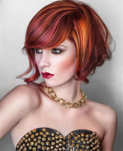 vibrant red hair ideas  pinterest red