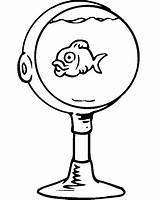 Coloring Bowl Fish Goldfish Sheet Cliparts Colouring Clip Printables Printactivities Clipart Library Stemware Champagne Fishbowl Clipartbest Az sketch template