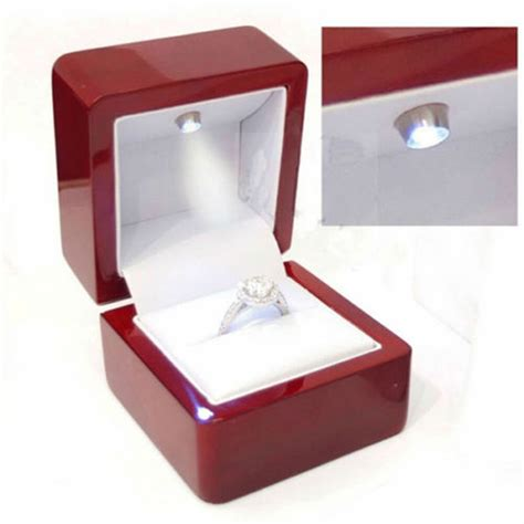 Ring Box With Light by Cherry Jewelry Ring Box With Led Light