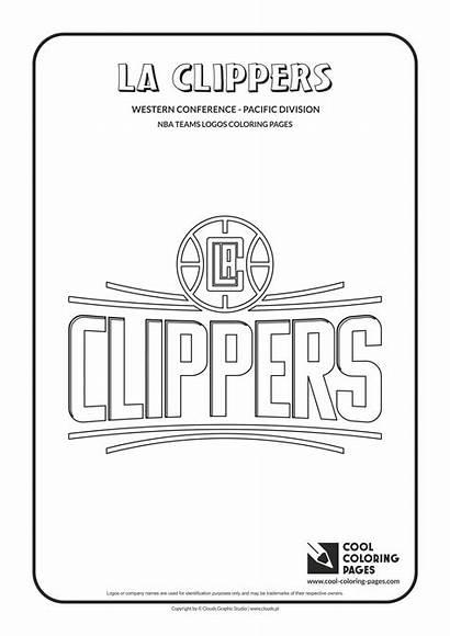 Nba Clippers Coloring Logos Basketball Cool Teams