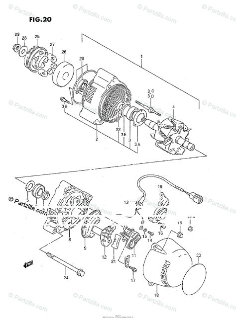 suzuki motorcycle 1988 oem parts diagram for alternator partzilla
