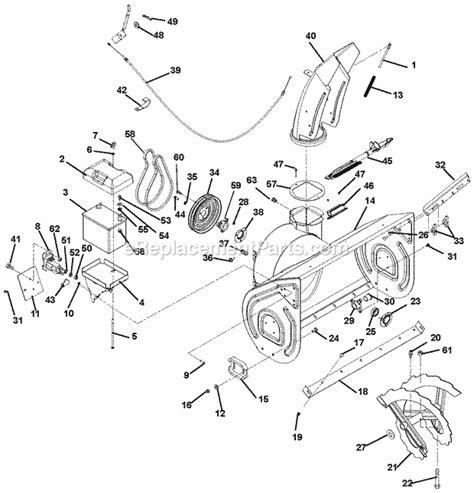 Arien Snowblower Wiring Diagram by Ariens Snowblower Parts Diagram 2pulleymodle 921001