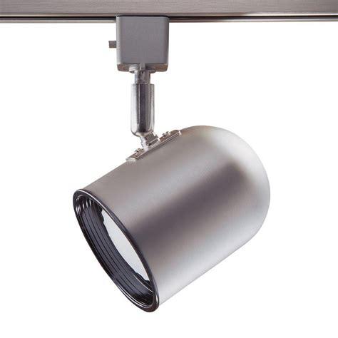 linear track lighting fixtures hton bay 1 light brushed steel linear track lighting