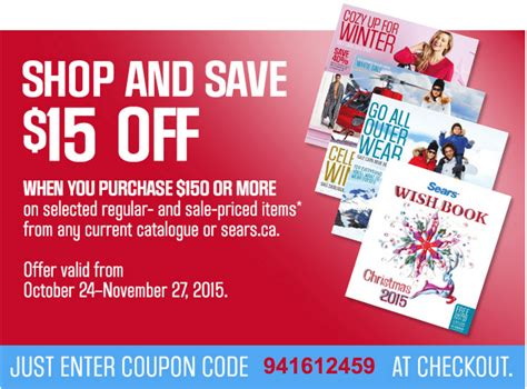 27952 Sears Promo Code 15 by Sears Canada Coupon Code Offers Save 15 100