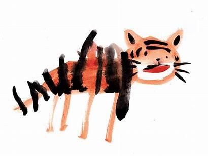 Tiger Stripes Ollie Gouache Mouth