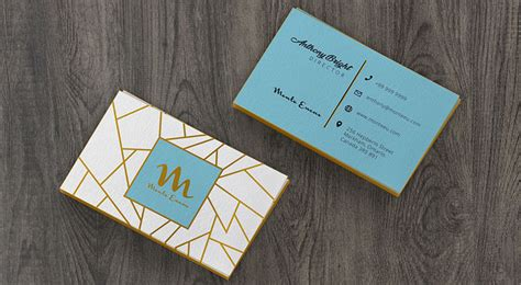 colored edge front  business card mockup psd
