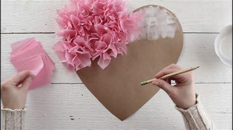 tissue paper puffy heart valentines window decoration